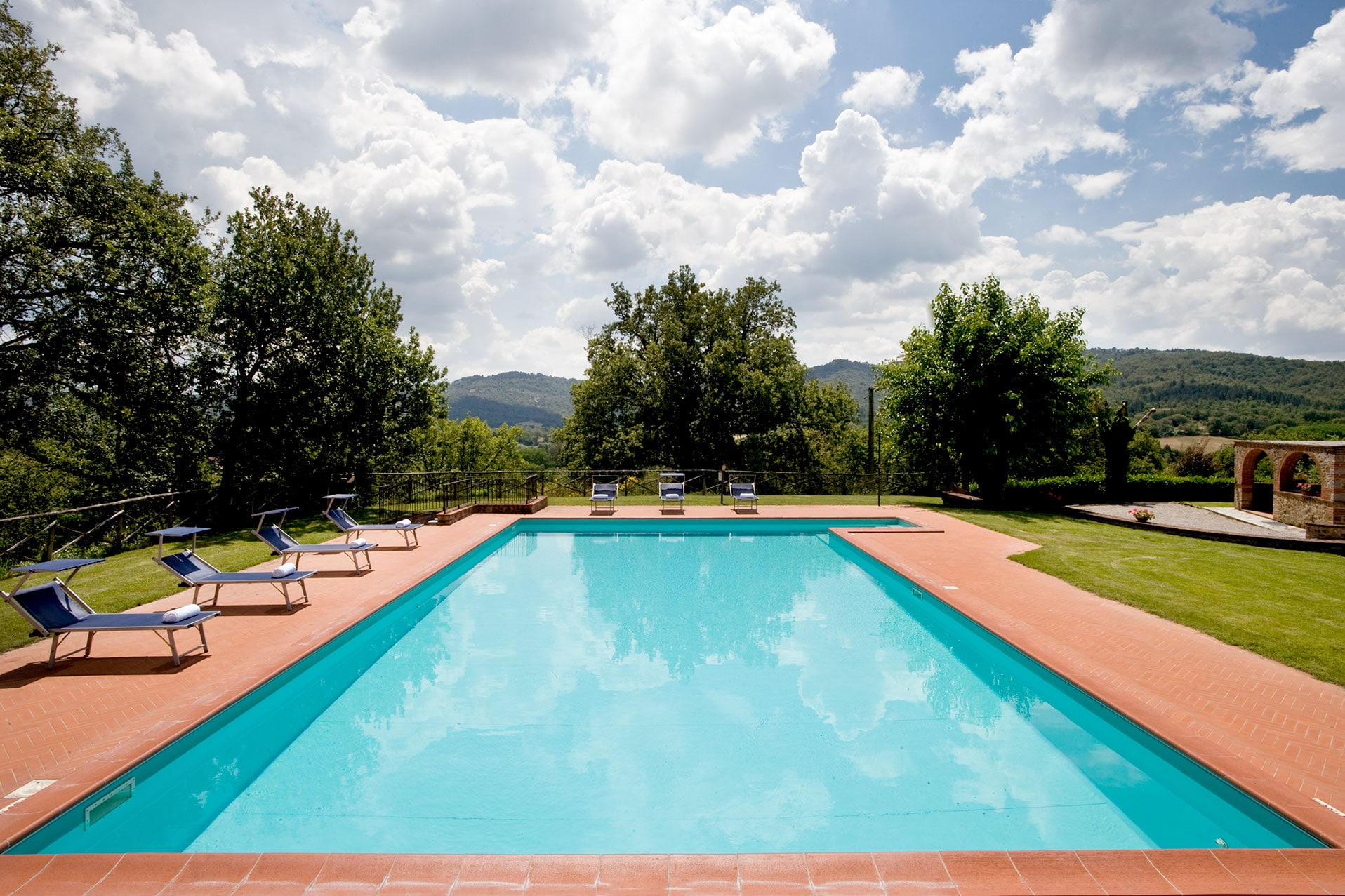 piscina, swimming pool, garden, relax